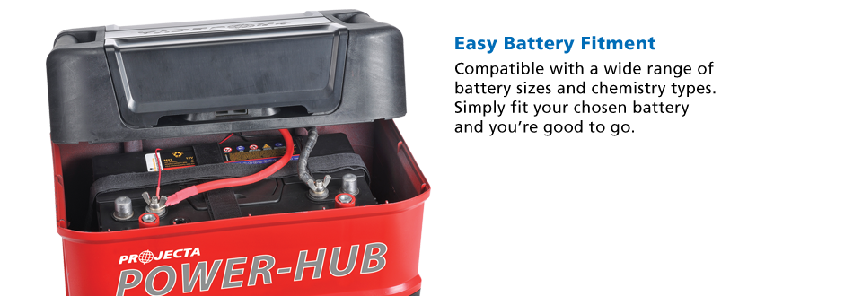 projecta power hub easy battery fitment
