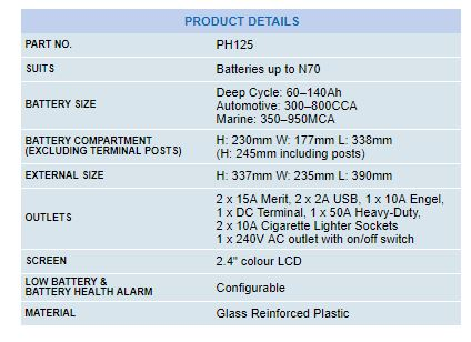projecta power hub specifications 1