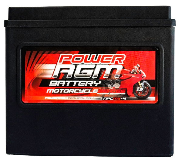 Power AGM NPC MX-4 Motorcycle Battery