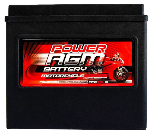 Power AGM NPC MX-5 Motorcycle Battery