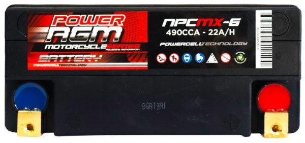 Power AGM NPC MX-6 Motorcycle Battery
