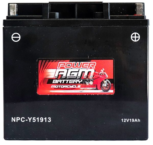 Power AGM NPC-Y51913 Motorcycle Battery