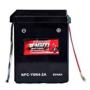 Power AGM NPC Y6N4-2A Motorcycle Battery