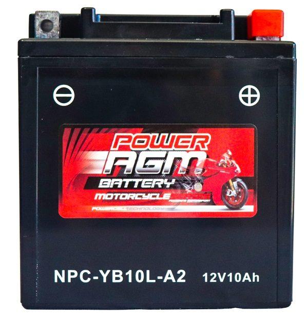 Power AGM NPC-YB10L-A2 Motorcycle Battery