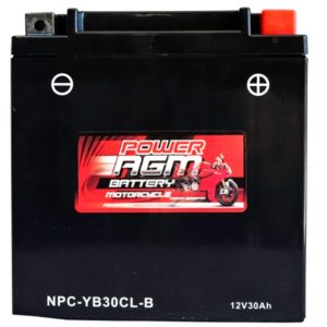 Power AGM NPC-YB30CL-B Motorcycle Battery