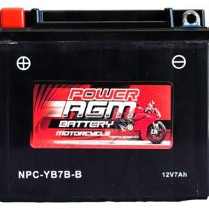 Power AGM NPC-YB7B-B Motorcycle Battery