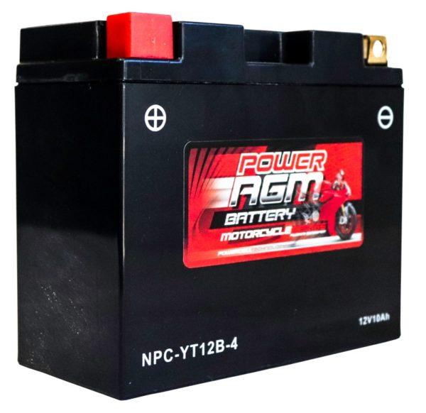 Power AGM NPC-YT12B-4 Motorcycle Battery