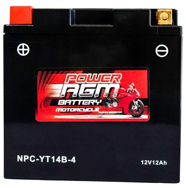 Power AGM NPC-YT14B-4 Motorcycle Battery
