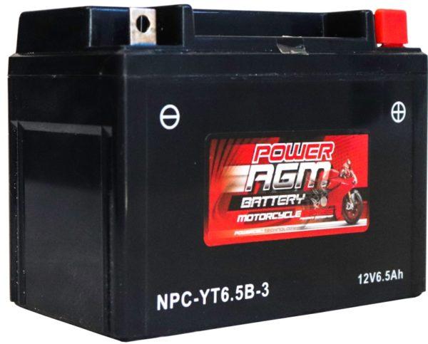 Power AGM NPC-YT6.5B-3 Motorcycle Battery