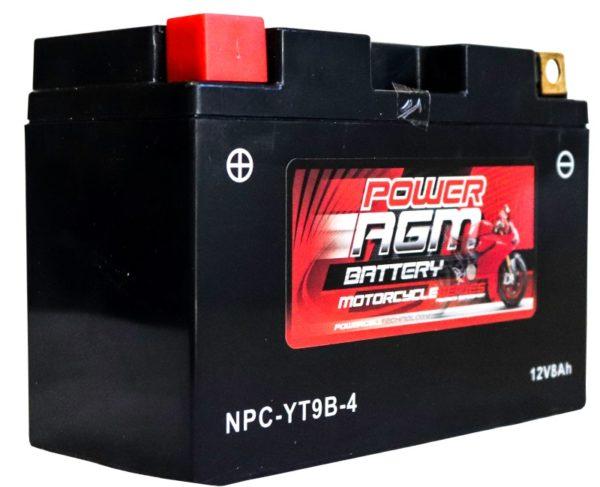 Power AGM NPC-YT9B-4 Motorcycle Battery