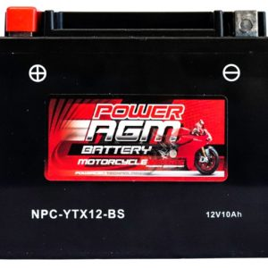 Power AGM NPC-YTX12-BS Motorcycle Battery