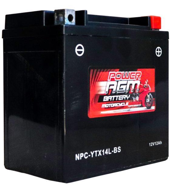 Power AGM NPC-YTX14L-BS Motorcycle Battery