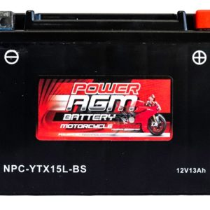 Power AGM NPC-YTX15L-BS Motorcycle Battery
