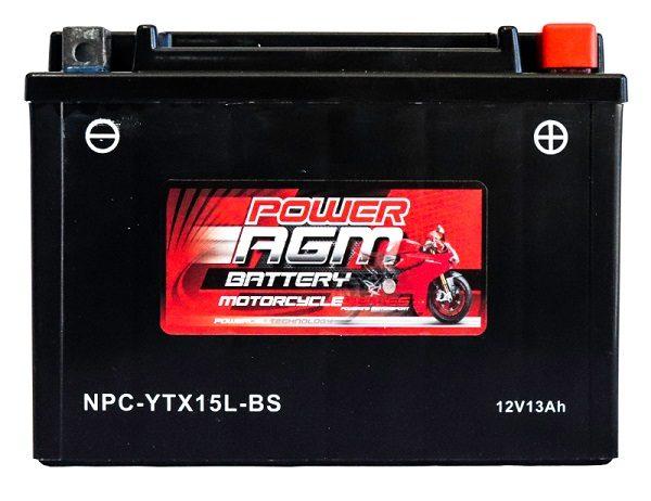 Power AGM NPC-YTX15L-BS Motorcycle Battery