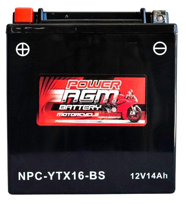 Power AGM NPC-YTX16-BS Motorcycle Battery