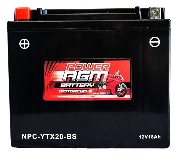 Power AGM NPC-YTX20-BS Motorcycle Battery