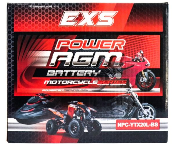 Power AGM NPC-YTX20L-BS Motorcycle Battery