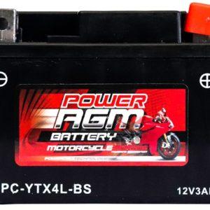 Power AGM NPC-YTX4L-BS Motorcycle Battery