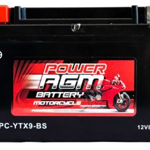 Power AGM NPC-YTX9-BS Motorcycle Battery