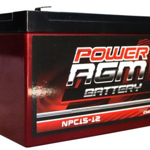 Power AGM NPC15-12 AGM Battery front and side