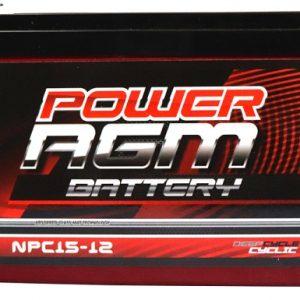 Power AGM NPC15-12 AGM Battery front