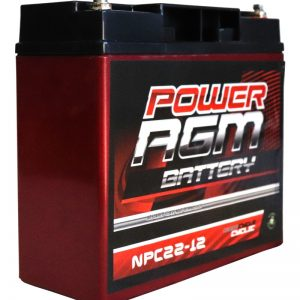 Power AGM NPC22-12 AGM Battery front and side
