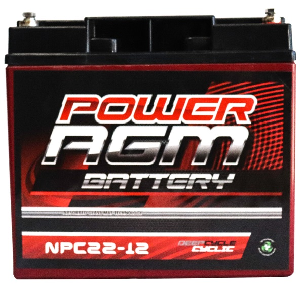 Power AGM NPC22-12 AGM Battery front