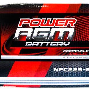 Power AGM NPC225-6 volt AGM deep cycle Battery