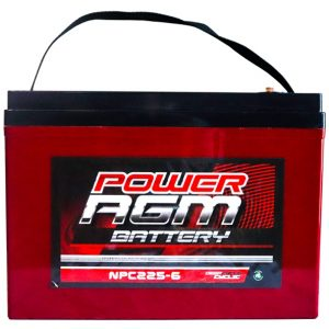 Power AGM NPC225-6 AGM Battery front
