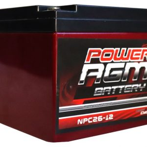Power AGM NPC26-12 AGM Battery front and side