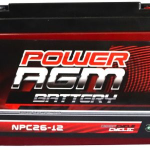 Power AGM NPC26-12 AGM Battery front