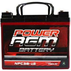 Power AGM NPC38-12 AGM Battery front