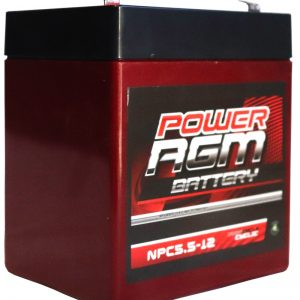 Power AGM NPC 5.5-12 battery front and side