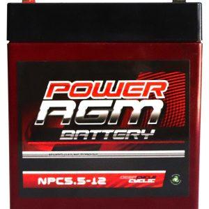 Power AGM NPC5.5-12 battery front