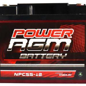 Power AGM NPC55-12 AGM Battery front