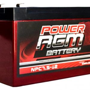 Power AGM NPC7.5-12 AGM Battery front and side