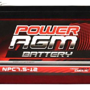 Power AGM NPC7.5-12 AGM Battery front