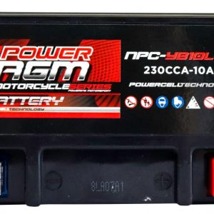 Power AGM NPC-YB10L-A2 Motorcycle Battery top