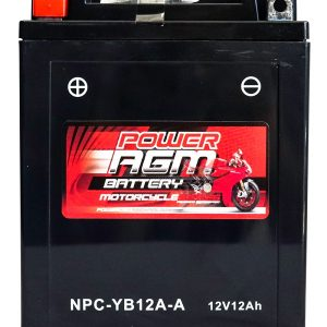 Power AGM NPC-YB12A-A Motorcycle Battery front