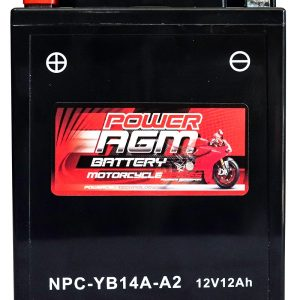 Power AGM NPC-YB14A-A2 Motorcycle Battery front