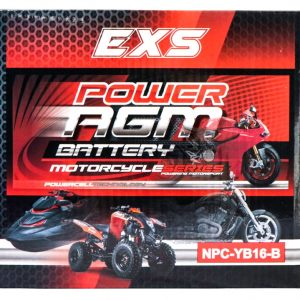 Power AGM NPC-YB16-B Motorcycle Battery retail