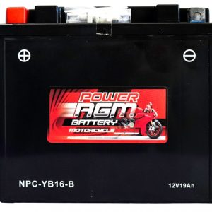 Power AGM NPC-YB16-B Motorcycle Battery front