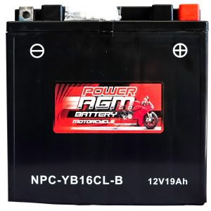 Power AGM NPC-YB16CL-B Motorcycle Battery front