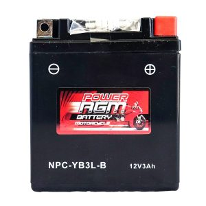 Power AGM NPC-YB3L-B Motorcycle Battery front