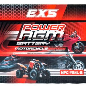 Power AGM NPC-YB4L-B Motorcycle Battery retail