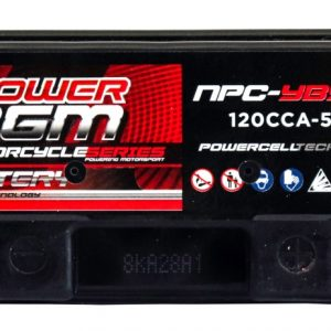 Power AGM NPC-YB5L-B Motorcycle Battery top