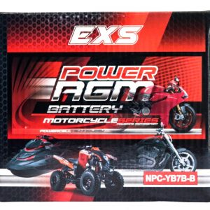 Power AGM NPC-YB7B-B Motorcycle Battery retail