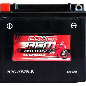 Power AGM NPC-YB7B-B Motorcycle Battery front