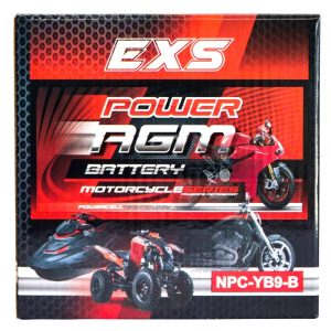 Power AGM NPC-YB9-B Motorcycle Battery retail