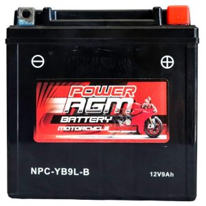 Power AGM NPC-YB9L-B Motorcycle Battery front
